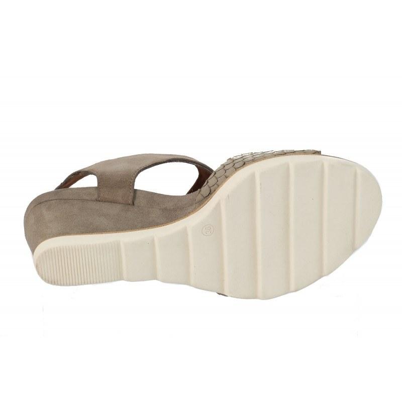 Дамски сандали на платформа Tamaris бежови мемори пяна