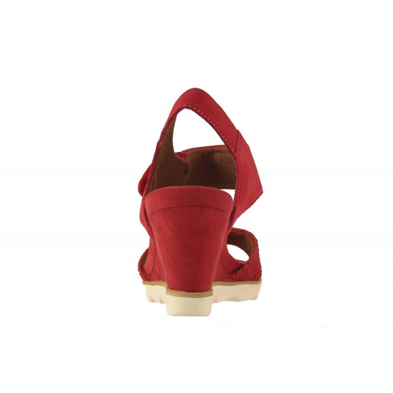 Дамски сандали на платформа Tamaris червени мемори пяна