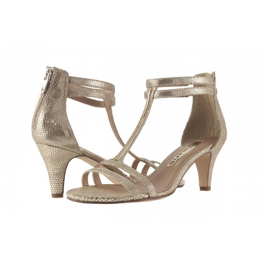 Дамски елегантни сандали на ток Tamaris златисти