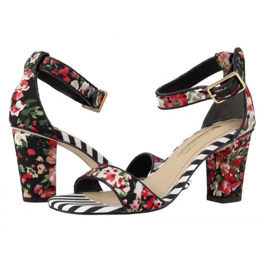 Дамски сандали на висок ток Tamaris флорални/черни