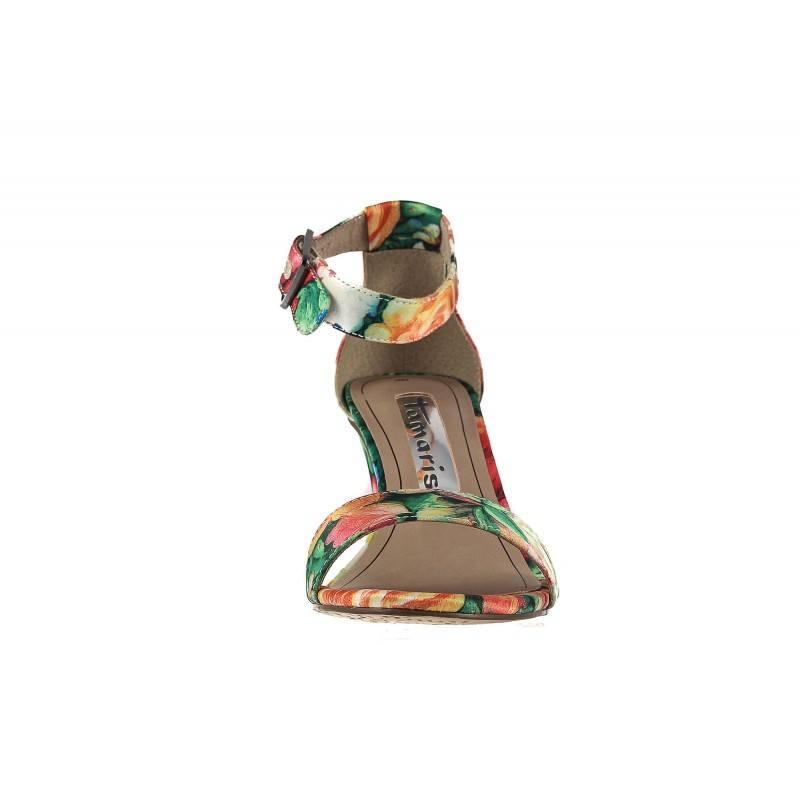 Дамски елегантни сандали на ток Tamaris флорални 28316