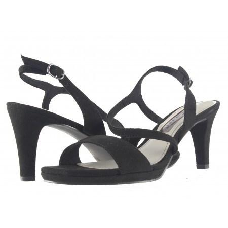 Елегантни дамски сандали на ток Tamaris черни