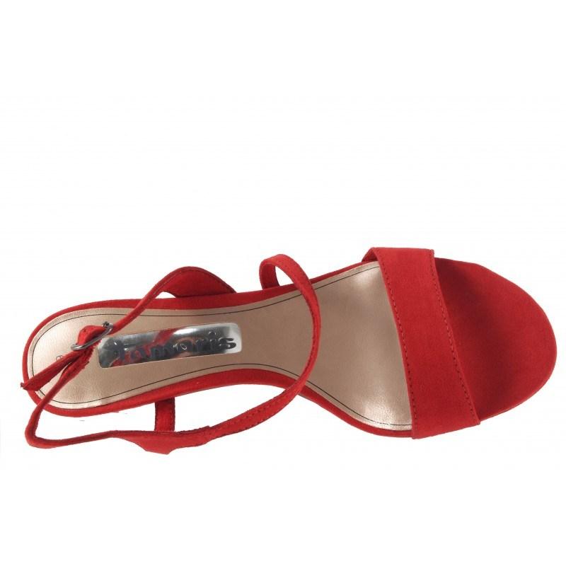 Елегантни дамски сандали на ток Tamaris червени