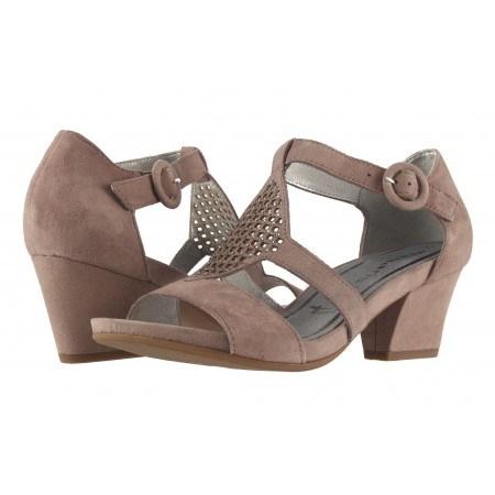 Дамски отворени обувки на ток Tamaris пурпурни 28325