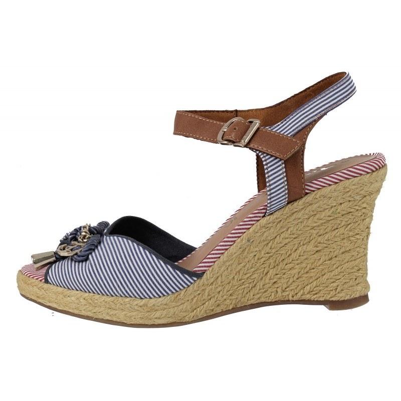 Дамски сандали на платформа Tamaris морска комбинация