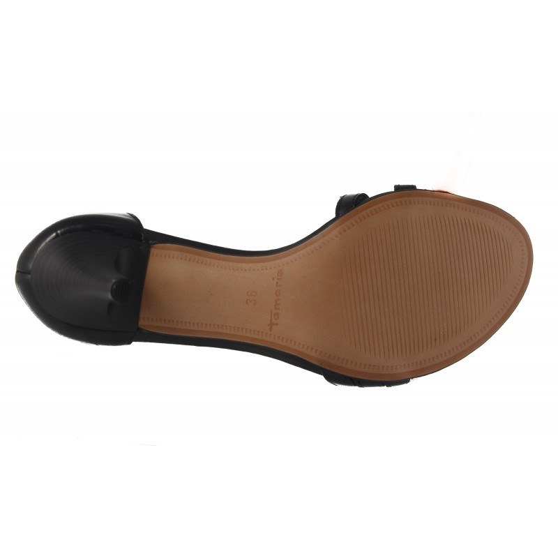 Дамски елегантни сандали на ток Tamaris черни