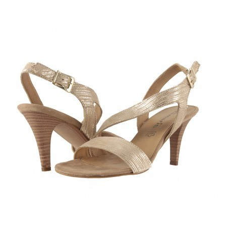 Елегантни дамски сандали на ток Tamaris златисти