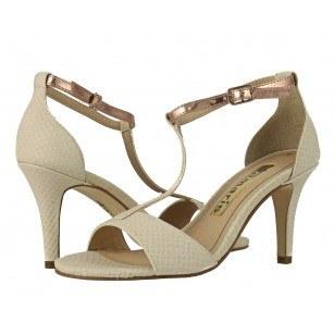 Дамски сандали на висок ток Tamaris бежови/розови