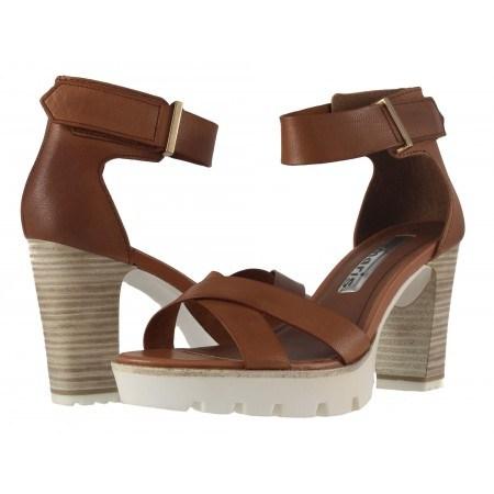 Дамски сандали на висок ток Tamaris кафяви