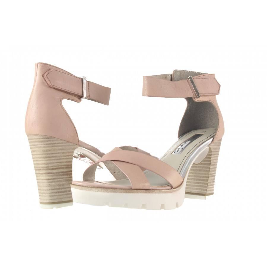 Дамски сандали на висок ток Tamaris розови
