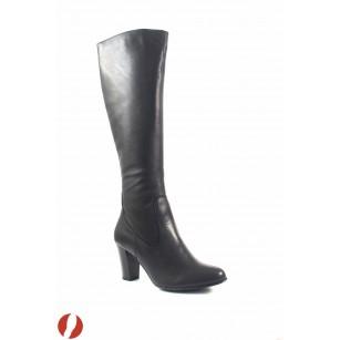 Дамски елегантни ботуши на висок ток Caprice черни