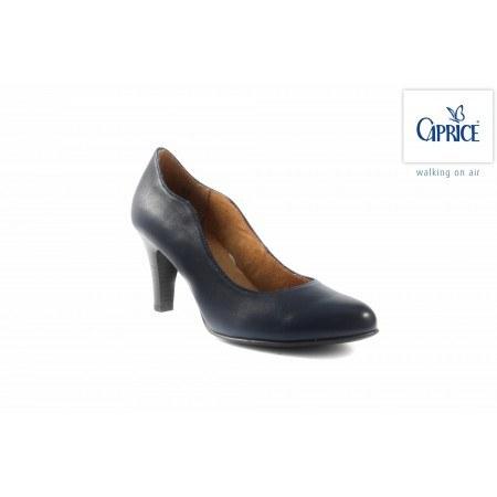 Елегантни кожени обувки на висок ток Caprice сини 22401803