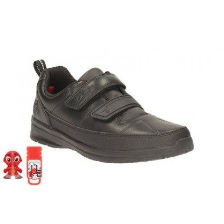 Детски кожени обувки за момче черни Clarks ReflectAce — Kompass