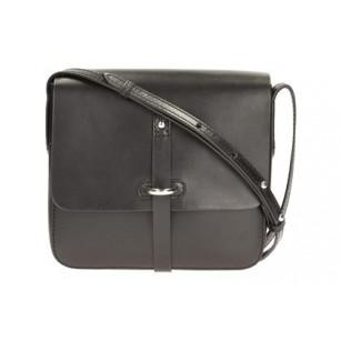 Дамска кожена чанта през рамо Clarks черна Timble Cove