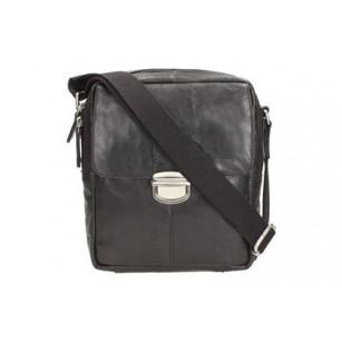 Мъжка кожена чанта през рамо черна Clarks Thorley Close