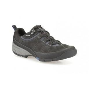 Мъжки кожени обувки с връзки Clarks черни Wave Pass GTX GORE-TEX®
