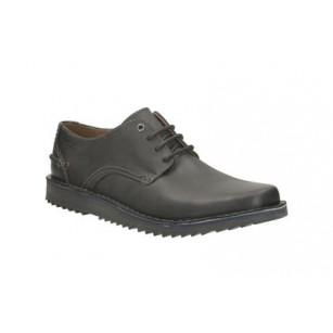Мъжки кожени обувки с връзки Clarks черни Remsen Limit