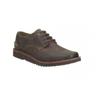 Мъжки кожени обувки с връзки Clarks кафяви Remsen Limit