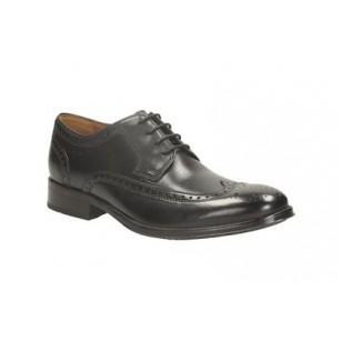 Мъжки кожени обувки с връзки Clarks Kolby Limit