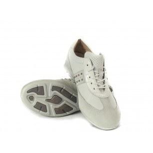 Дамски спортни обувки от естествена кожа Gabor бели 4255560