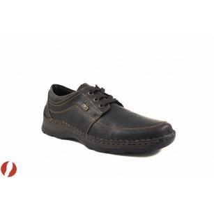 Мъжки кожени обувки с връзки Rieker кафяви 0531325