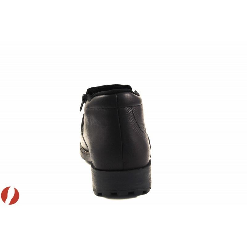 Мъжки кожени боти с цип Rieker черни 1608100