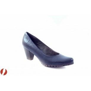 Дамски кожени обувки на среден ток S.Oliver сини 22433805