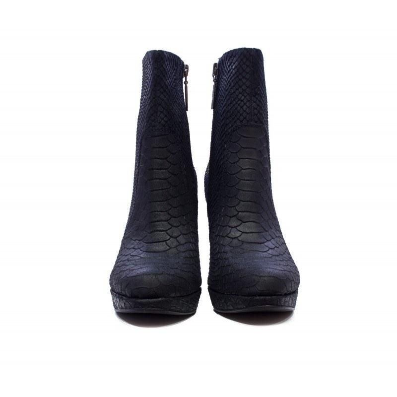 Дамски елегантни боти на висок ток S.Oliver черни-принт 25352036