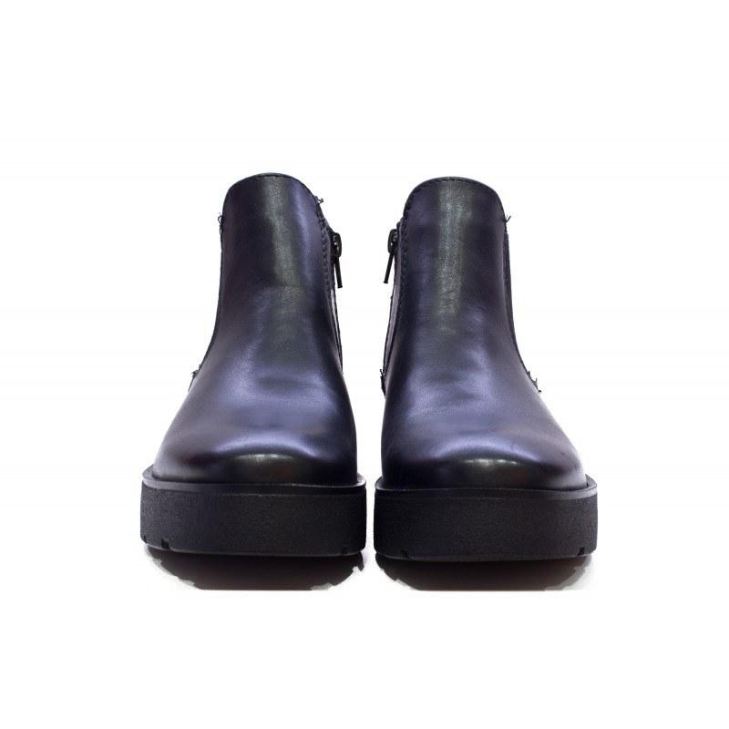Дамски кожени боти на платформа S.Oliver черни 25443001