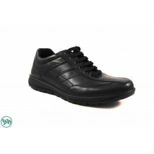 Мъжки кожени обувки с връзки Salamander черни 4000101