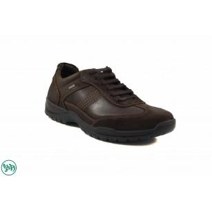 Мъжки кожени обувки с връзки Salamander кафяви 6570107