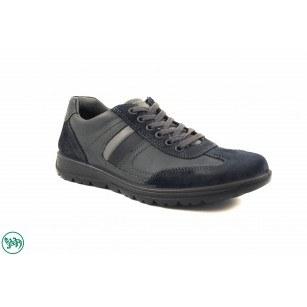 Мъжки спортни обувки с връзки Salamander сини 4000542