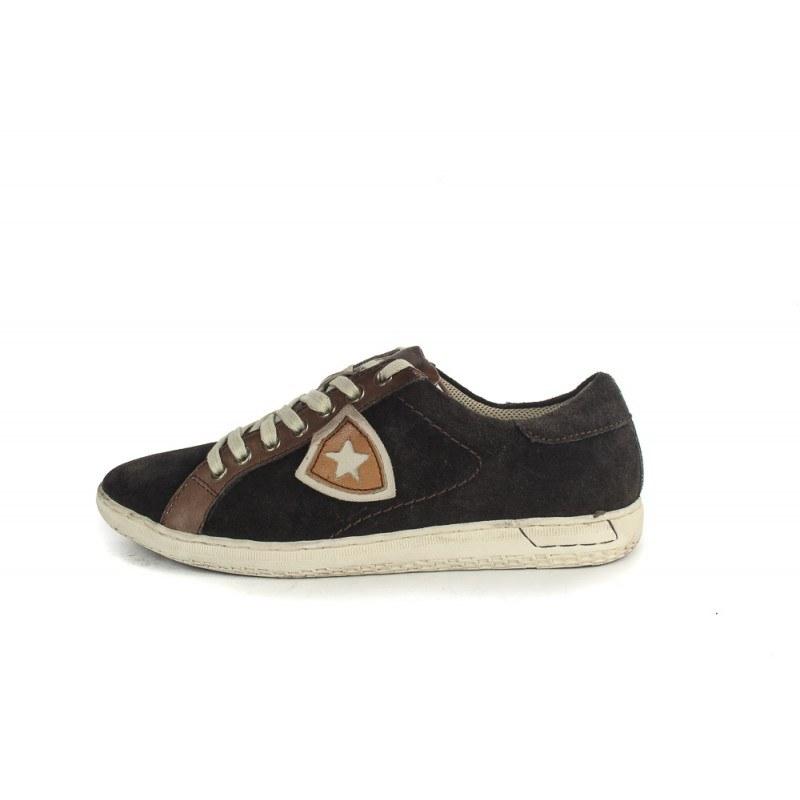 Мъжки спортни обувки с връзки Salamander кафяви 4240224