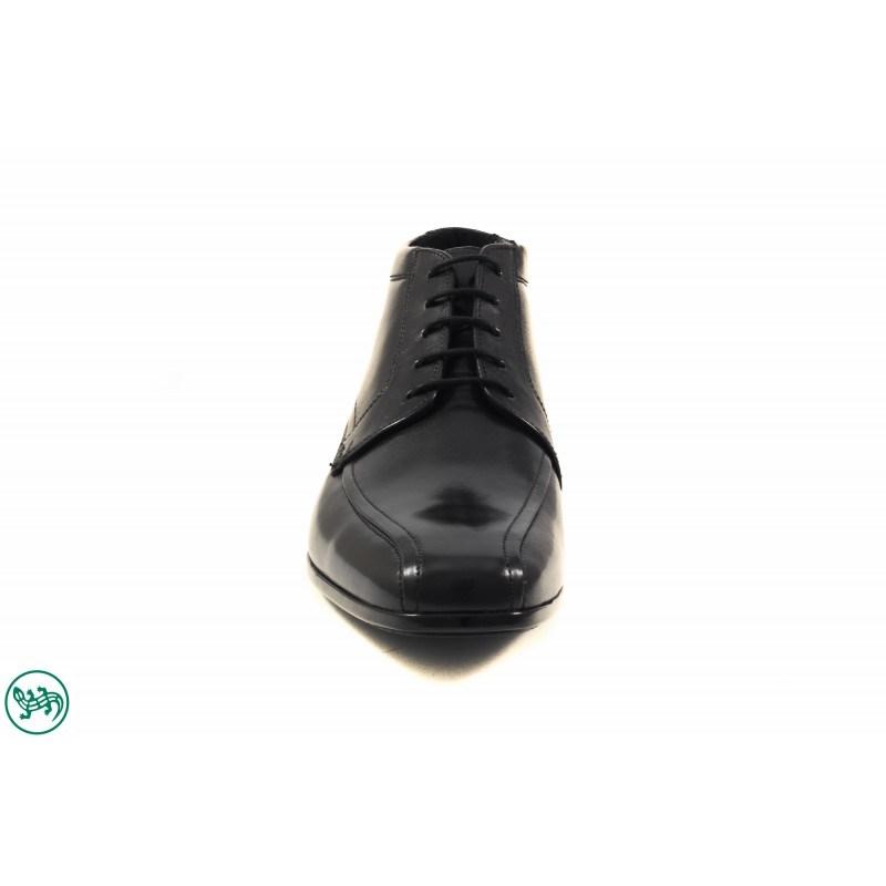 Елегантни кожени мъжки боти с връзки Salamander черни 6910361