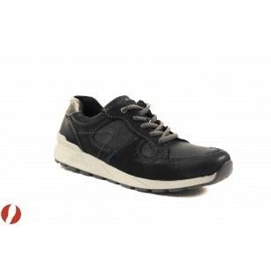 Дамски кожени маратонки с връзки Tamaris черни 23603001