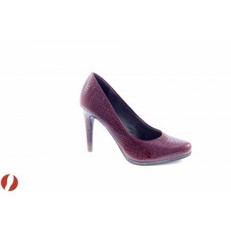 Елегантни дамски обувки на висок ток Tamaris червен лак 22444560