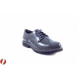 Дамски обувки на равно ходило с връзки Tamaris сив лак 23214206