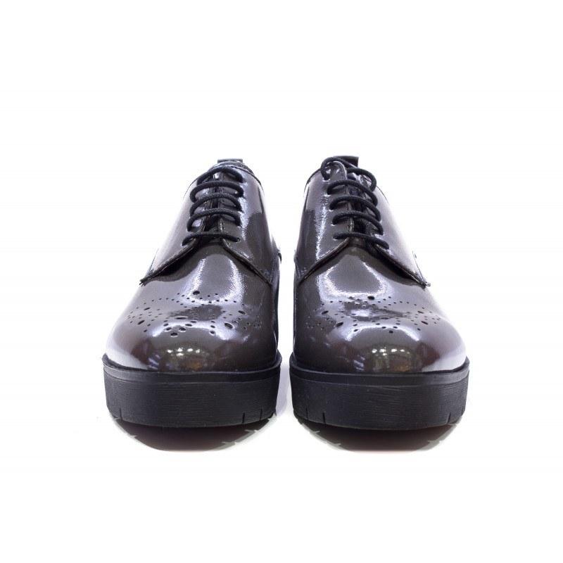 Дамски обувки на платформа с връзки Tamaris сиви 23307214