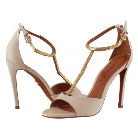 Елегантни дамски сандали на висок ток Carrano бежови