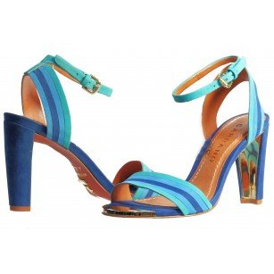 Дамски елегантни сандали Carrano тюркоаз