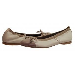 Дамски кожени обувки балерина  Tamaris бежови мемори пяна