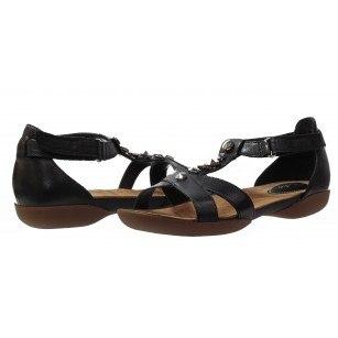Дамски сандали на равно ходило черни Clarks Raffi Scent