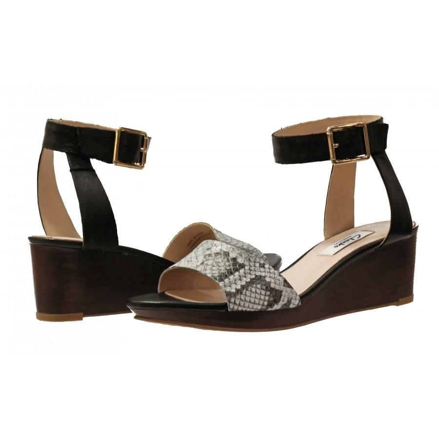 af0179da5 Дамски сандали на платформа Clarks Ornate Jewel принт черни естествена кожа