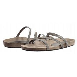Дамски анатомични чехли на равно ходило Tamaris сребристи