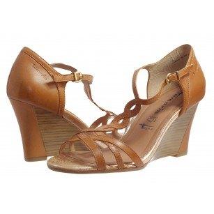 Дамски сандали на платформа Tamaris кафяви