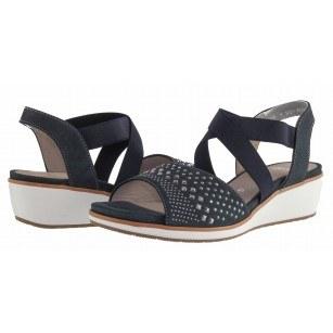 Дамски сандали на платформа Ara сини естествена кожа