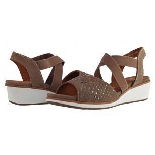 Дамски сандали на платформа Ara кафяви естествена кожа