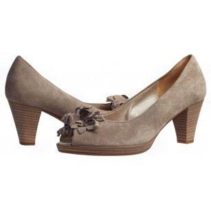 Дамски обувки на ток Gabor естествена кожа бежови