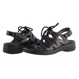 Дамски анатомични сандали Jenny Ara черни подвижна стелка естествена кожа
