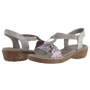 Дамски анатомични сандали Jenny Ara сиви мултиколор